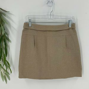 J.Crew Skirt Size 0 Brown Metallic Straight Mini